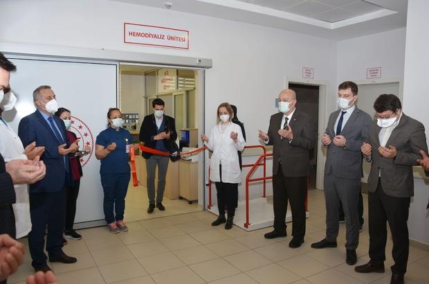 Hayrabolu Devlet Hastanesinde diyaliz ünitesi hizmete açıldı