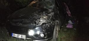 Giresun'da trafik kazası: 1 ölü, 2 yaralı