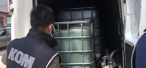 İzmir'de 3 tona yakın kaçak akaryakıt ele geçirildi
