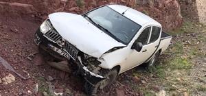 Sürücü uyudu araç baraj gölünü uçmaktan son anda kurtuldu