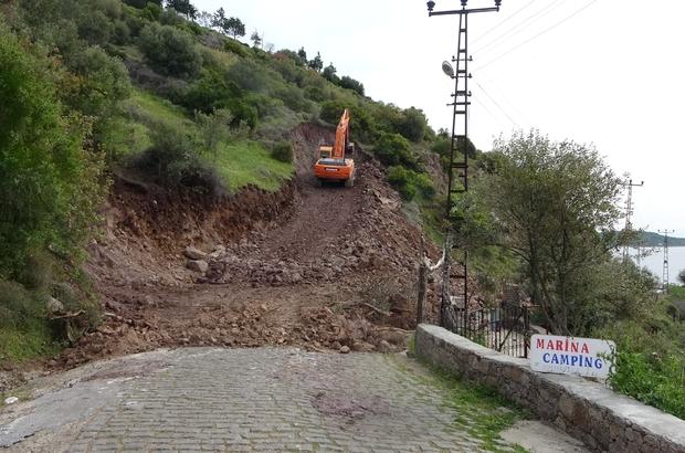 Hayalet şehre dönen Assos Antik Liman'da kaya ıslahı çalışmaları başladı