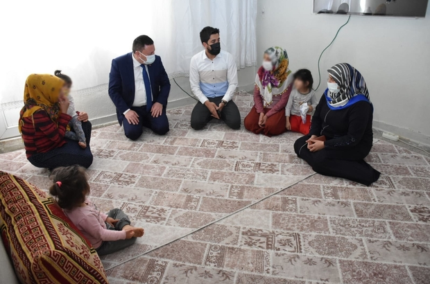 Başkan Beyoğlu, Dünya Yetimler Gününde 4 yetimi olan aileye kol kanat oldu