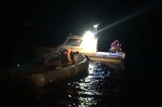 Çanakkale açıklarında 5 düzensiz göçmen kurtarıldı