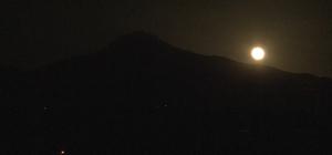 Ay ile Erciyes buluştu, ortaya doyumsuz manzara çıktı