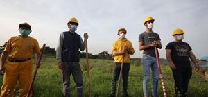 İzmir ormanlarının gönüllü ateş savaşçıları eğitimde