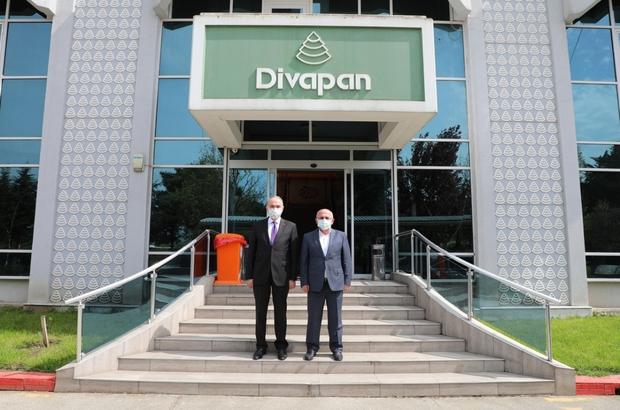 """Başkan Özlü Divapan'ı ziyaret etti Başkan Özlü """"Üretime önem veriyoruz"""""""