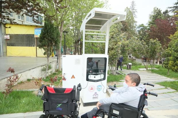 Develi'de akülü sandalye şarj istasyonlarının montajı tamamlandı