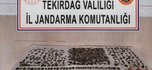 Tekirdağ'da piyasaya sürülmeye çalışılan 957 parça tarihi eser ele geçirildi Polis sosyal medyada buldu gerisi çorap söküğü gibi geldi
