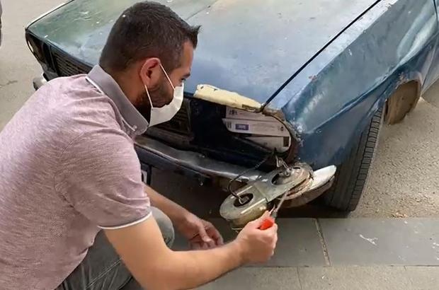 Araç farından kaçak sigara çıktı