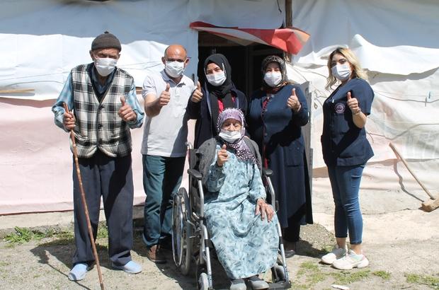 İhtiyaç sahibi yaşlılara ve engellilere evde bakım hizmeti veriliyor