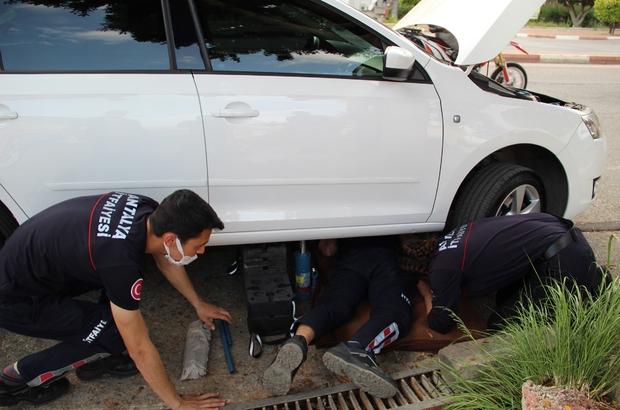 Araç motoruna sıkışan kediyi kurtarmak için seferber oldular Araç kriko yardımı ile kaldırıldı, kedinin bulunduğu yerden hareket etmesi için pet şişe ile su döküldü 2 saatlik çalışma sonucu itfaiye ve vatandaşlar yavru kediyi kurtardı