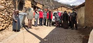 Kızılay'dan Köylerde ihtiyaç sahibi ailelere yardım eli