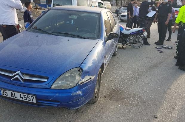 Karayolunda ters yöne giren motosiklet, otomobille kafa kafaya çarpıştı: 1 yaralı Kaza güvenlik kamerasına yansıdı