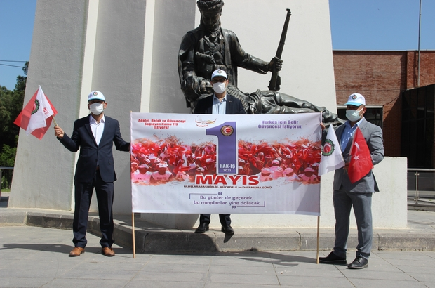 HAK-İŞ'ten 1 Mayıs kutlaması HAK-İŞ Konfederasyonu Manisa Temsilciliği Cumhuriyet Meydanında pandemi kuralları çerçevesinde düzenlediği basın açıklamasıyla 1 Mayıs'ı kutladı