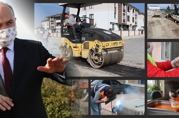 """Düzce Belediyesi kapanmada sahada Başkan Özlü """"Avantaja çevireceğiz"""""""