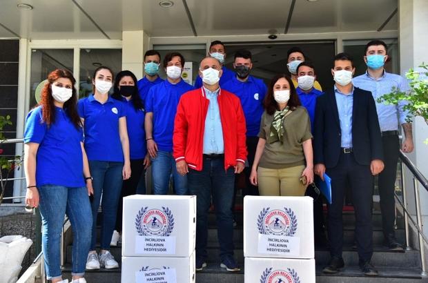 İncirliova Belediyesi'nden ihtiyaç sahibi ailelere yardım kolisi