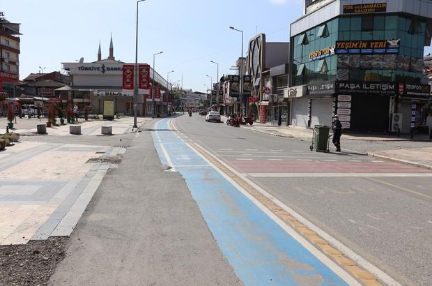 Düzce Belediyesi kent estetiği projesi için tam kapanmayı fırsata çevirdi