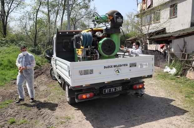 Düzce Belediyesi temiz yaz için harekete geçti 16 Cadde, 5 mahalle ve 3 bulvar ilaçlanacak