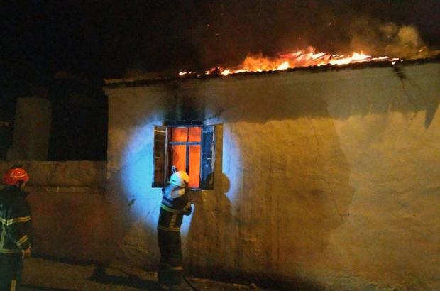 Milas'ta ev yangını: 1 yaralı