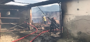 İzmir'deki hayvan çiftliğinde korkutan yangın