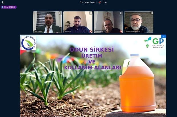 Odun sirkesi online panelde katılımcılara anlatıldı