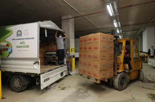 Gebze'de 7 bin aileye kumanya dağıtıldı