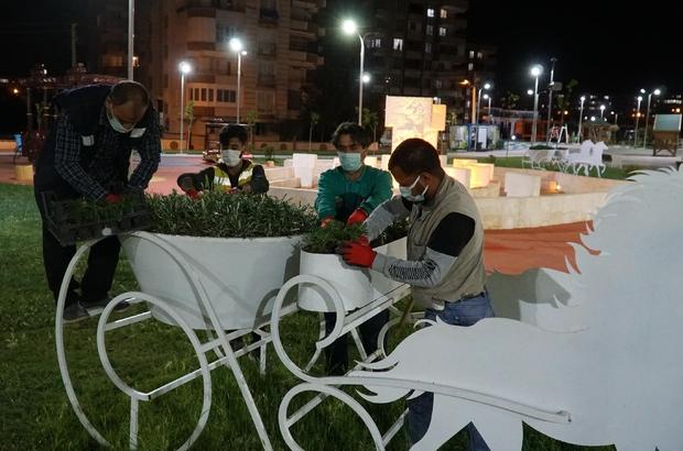 Haliliye'de parklar peyzaj çalışmaları ile güzelleşiyor