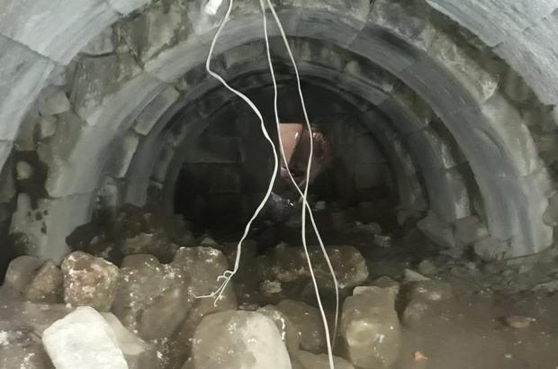 Kaçak kazıda yer altından Roma zindanları çıktı Jandarma kaçak kazıya operasyon düzenledi