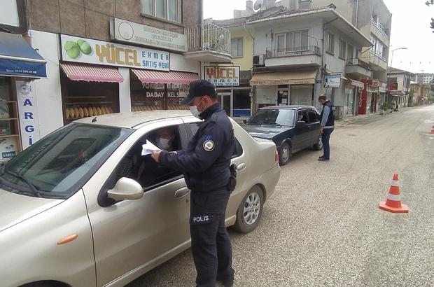 Daday'da polis ekipleri kısıtlama denetimi yapıldı