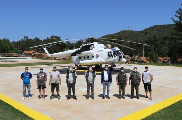 Muğla'da 2 yangın helikopteri göreve başladı Muğla Orman Bölge Müdürlüğünde orman yangınlarıyla mücadelede görev yapacak ilk yangın söndürme helikopterleri Marmaris ve Milas'ta göreve başlarken, bir insansız hava aracının da Haziran ayı içinde gelmesi bekleniyor