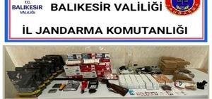 Balıkesir'de jandarmadan kaçak tütün operasyonu