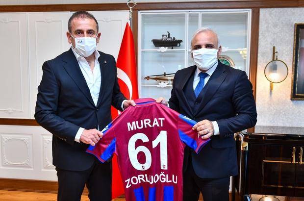Trabzonspor Teknik Direktörü Avcı'dan Başkan Zorluoğlu'na ziyaret