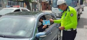 Trafik Haftası dolayısıyla Saray'da sürücüler bilgilendirildi
