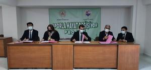 Dalaman'da 'Sporla hayat değişiyor' projesi için imzalar atıldı