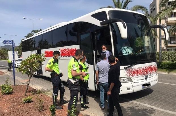 Seyahat izin belgesi olmayan yolcular denetimlere takıldı