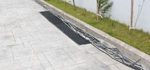 Süs havuzundaki kabloları çalan hırsızlık zanlısı yakalandı