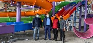Aziziye'de termal sular eğlenceyle buluşacak Aziziye Aqua Park göz kırpmaya başladı