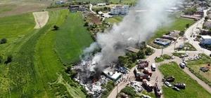 Çanakkale'de korkutan yangın Atıkların bulunduğu tesis alevlere teslim oldu