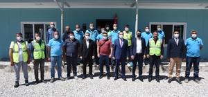 Genel Müdür Aslay, görev başındaki personellerle bayramlaştı