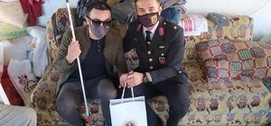 Jandarma komutanından gaziye bayram ziyareti