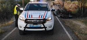 Yavuzeli'nde trafik kazası: 1 yaralı
