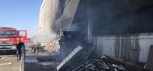 Manisa'da mobilya fabrikasında korkutan yangın 1 kişinin yaralandığı yangında dumanlar içerisinde kalan civcivler de itfaiye ekiplerince kurtarıldı