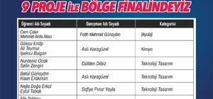 TÜBİTAK Araştırma Projeleri Yarışması SANKO Ortaokulu öğrencilerinin dokuz projesi bölge finalinde