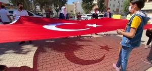 Sınırda 19 Mayıs coşkusu Akçakale'de 19 Mayıs konvoyu düzenlendi