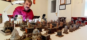 (ÖZEL) - Maket sanatçısı Erzurum'un 1800'lü yıllarına hayat veriyor Eserler aslına uygun olsun diye birebir ölçeklendirme yapıyor