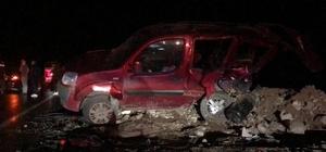 Bingöl'de iki araç çarpıştı, sürücülerden biri yaralandı