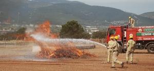 Yangın savaşçıları sezona hazır İzmir Orman Bölge Müdürlüğü, yangın sezonuna hazır Yangın savaşçıları tatbikat yaptı