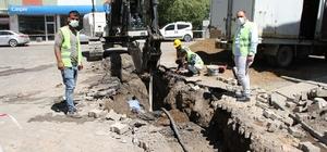 Malazgirt'te kanalizasyon çalışmaları devam ediyor