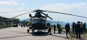 Arızası giderilen askeri helikopter havalandıktan kısa süre sonra tekrar zorunlu iniş yaptı