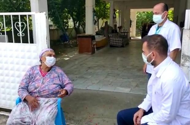 Aşıdan korkan yaşlı çifti, sağlık ekipleri ikna etti